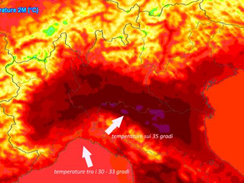 bel tempo e temperature superiori ai 32 gradi sulla Liguria 20/07/2021